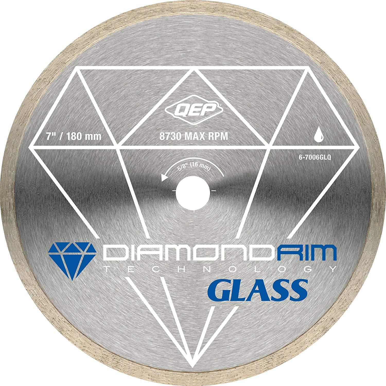 QEP 6-7006GLQ 7-Inch Continuous Rim Glass Tile Diamond Blade