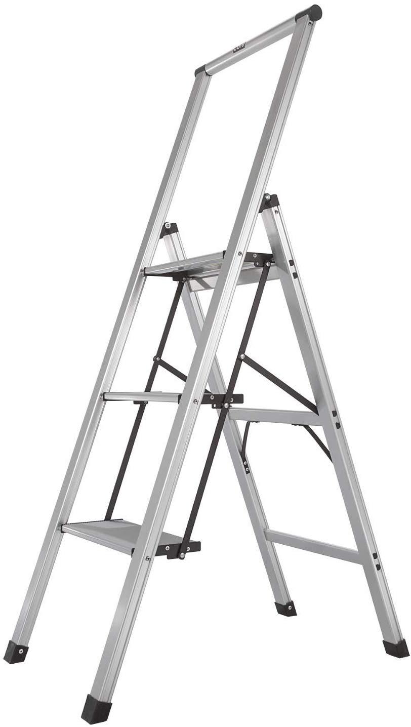 LivingSURE Folding 4-Step Safety Ladder – Padded Side Handrails