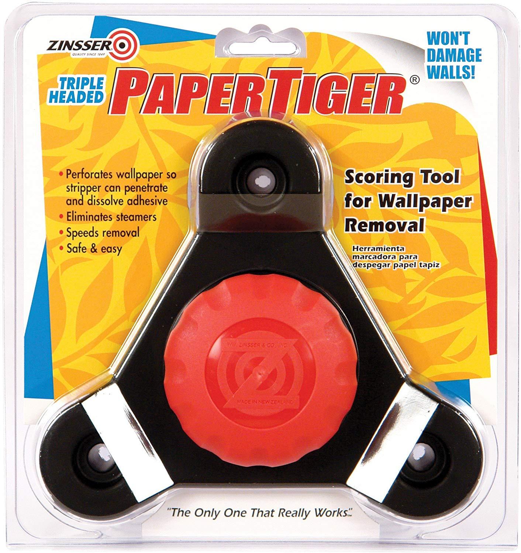 Zinsser 2976 Paper Tiger Free-Floating Self-Aligning Triple Head Wallpaper Remover Tool, 1 in L X 3 in W, Steel Teeth
