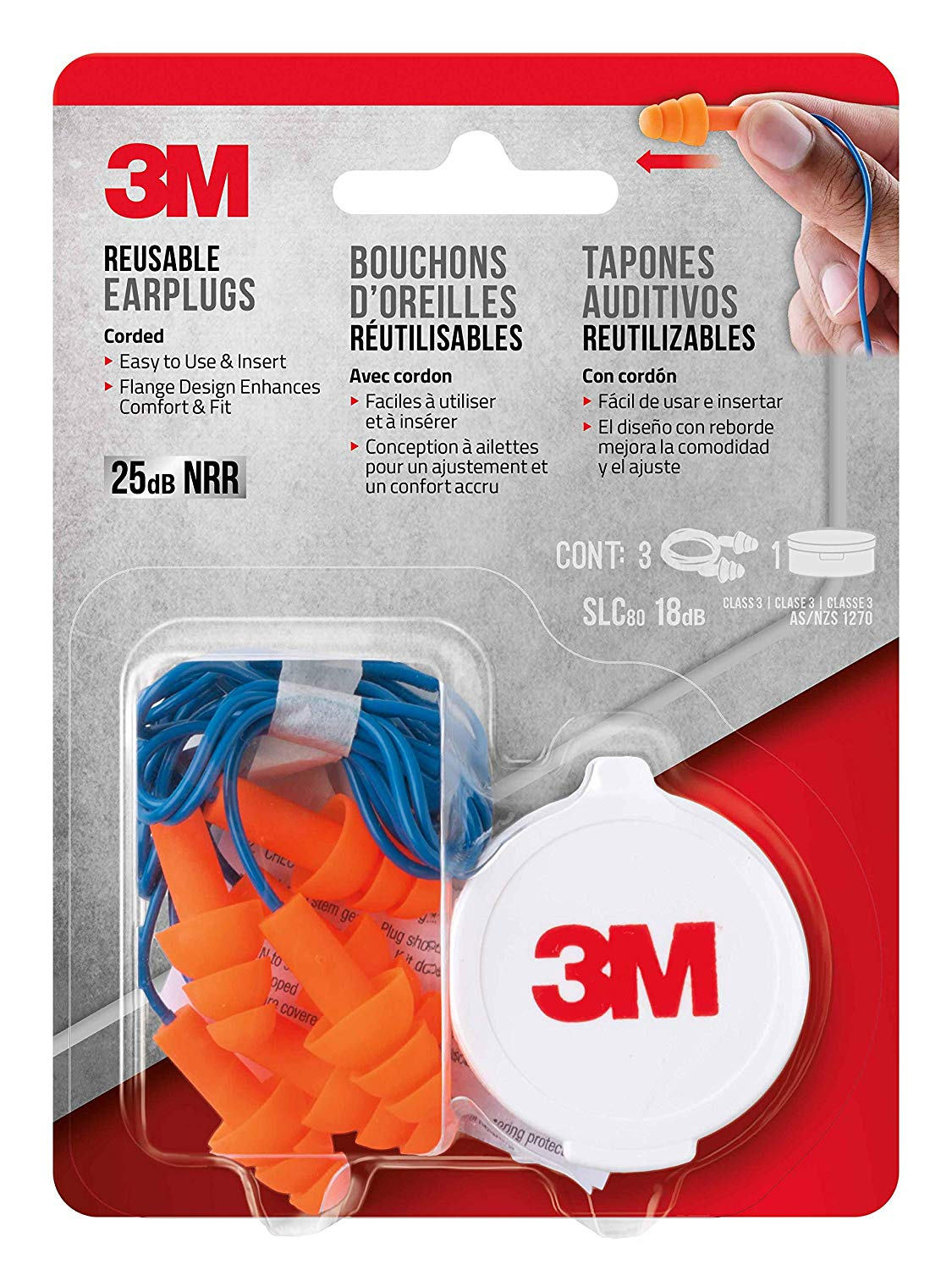 3M 90716-80025T Corded Reusable Earplug