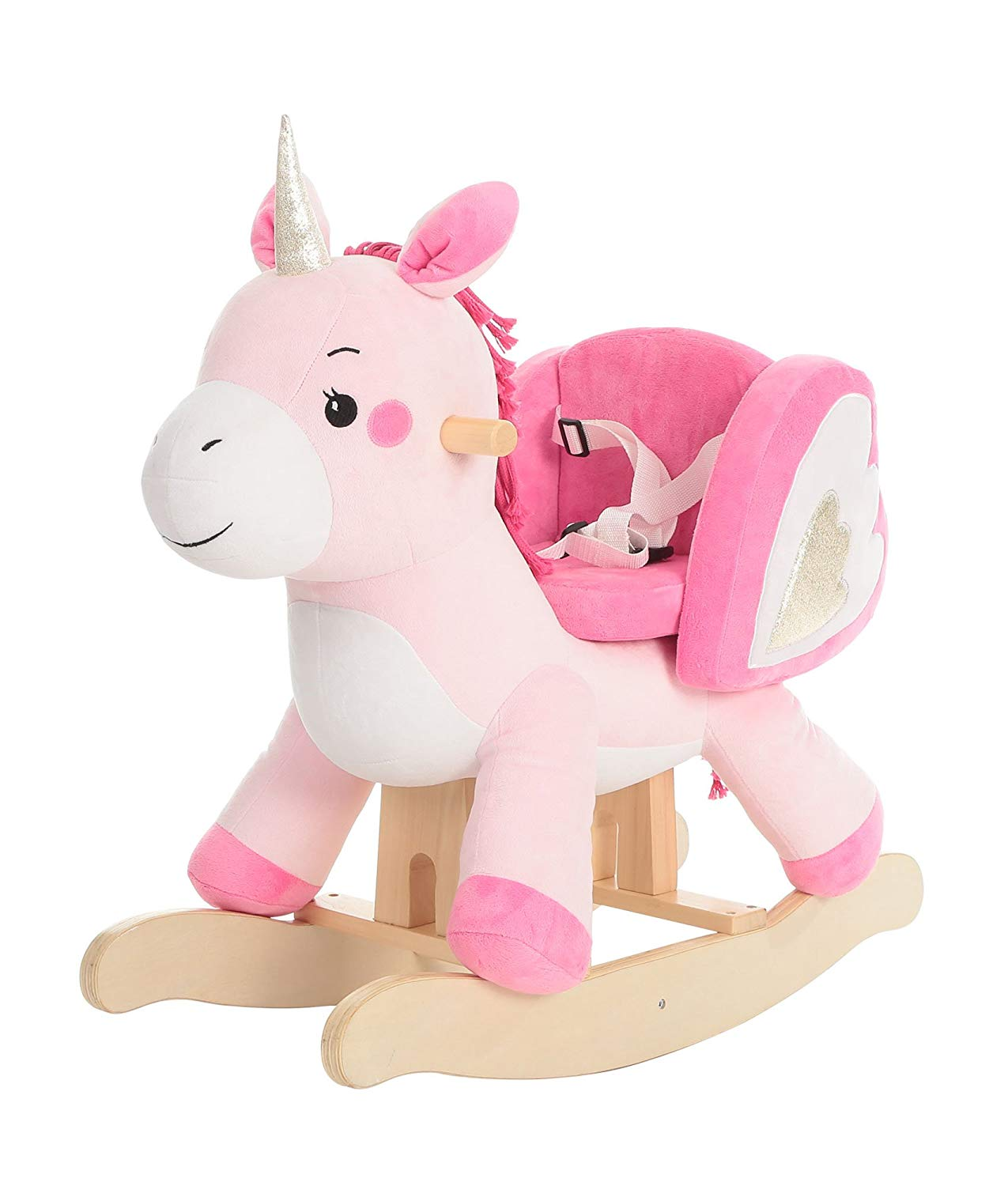Labebe - Baby Rocking Horse, Pink Ride Unicorn, Kid Ride On Toy for 1-3-Year-Old,
