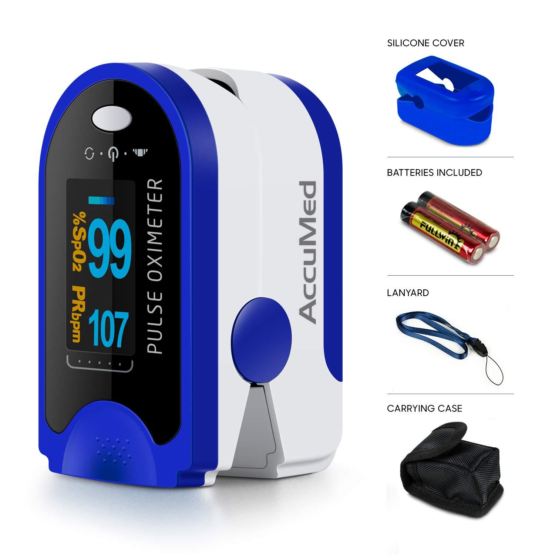 AccuMed Fingertip Pulse Oximeter, Sp02 Finger Blood Pulse Oxygen Monitor