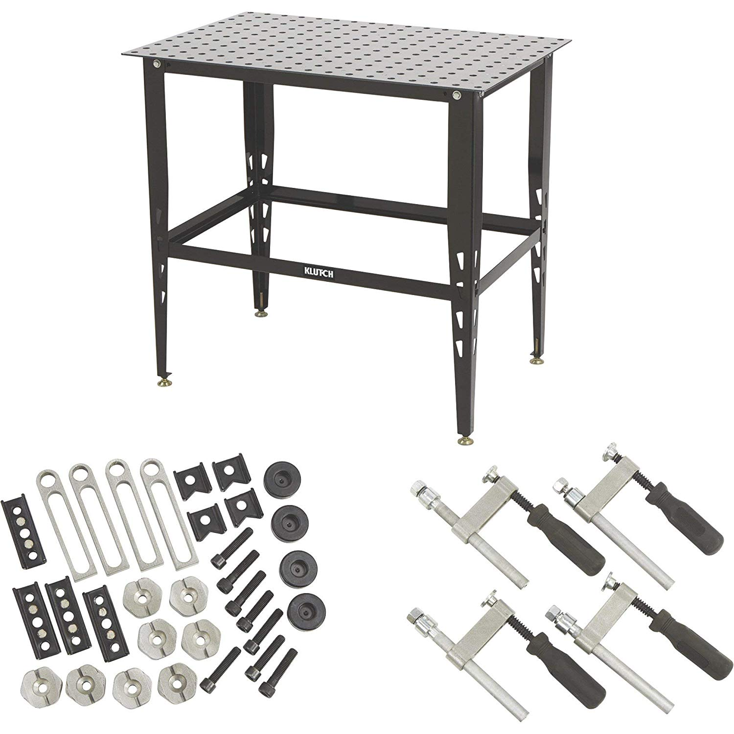 Klutch Steel Welding Table with Tool Kit - 36in.L x 24in.W x 33 1/4in.H: